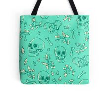 Bones and Leaves Tote Bag