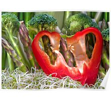 Vegetable Landscape Poster