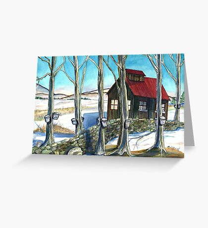 Maple Sugaring in Vermont Greeting Card