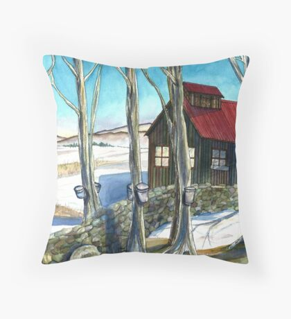 Maple Sugaring in Vermont Throw Pillow