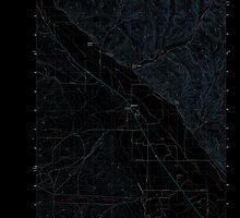 USGS Topo Map Oregon Jamieson 20110831 TM Inverted by wetdryvac