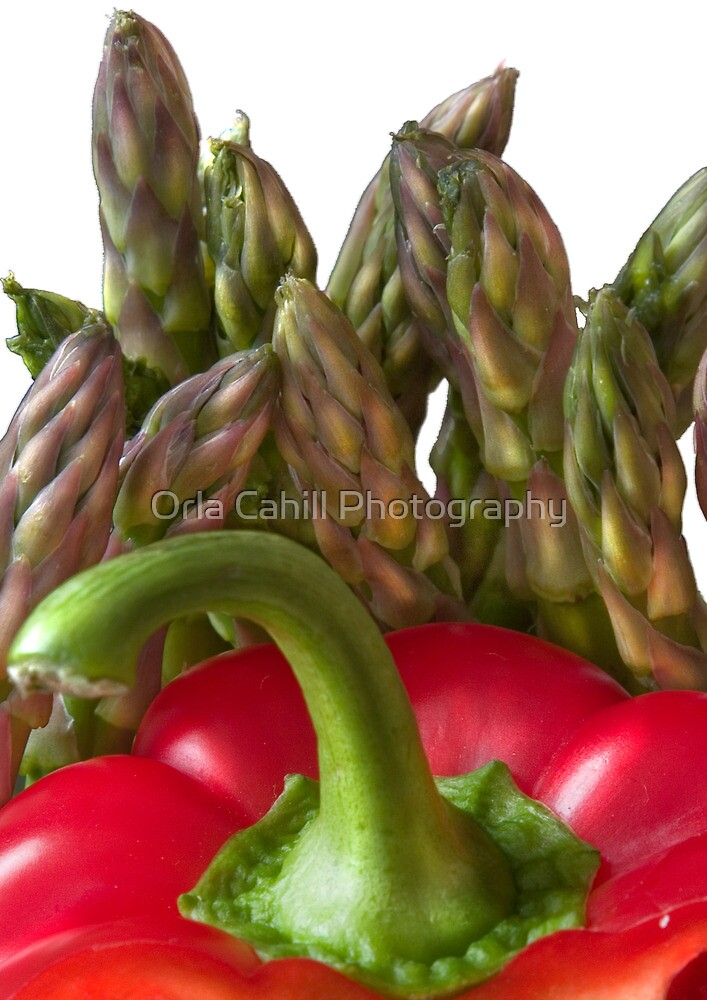 Red Pepper Abstract 5 by Orla Cahill Photography
