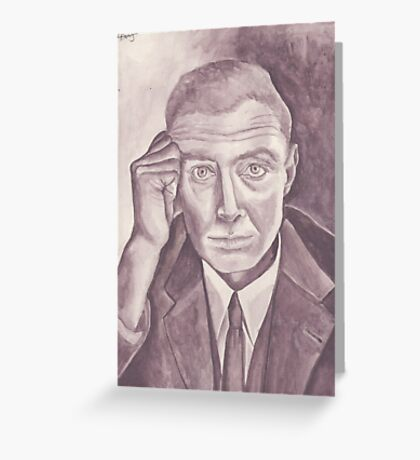 Portrait in black and white Greeting Card