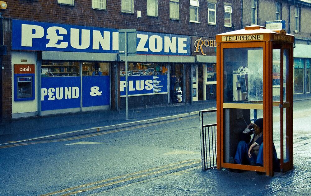 Phone box guy by Orrin Bebbington