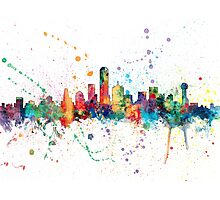 Dallas Texas Skyline Photographic Print
