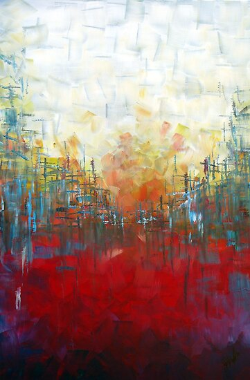 Red Landscape Perspective by Samuel Durkin