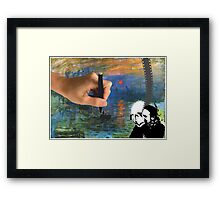 An awesome Monet Collage  Framed Print