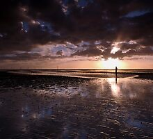 Crosby Beach at Sunset by Manuel Gonçalves