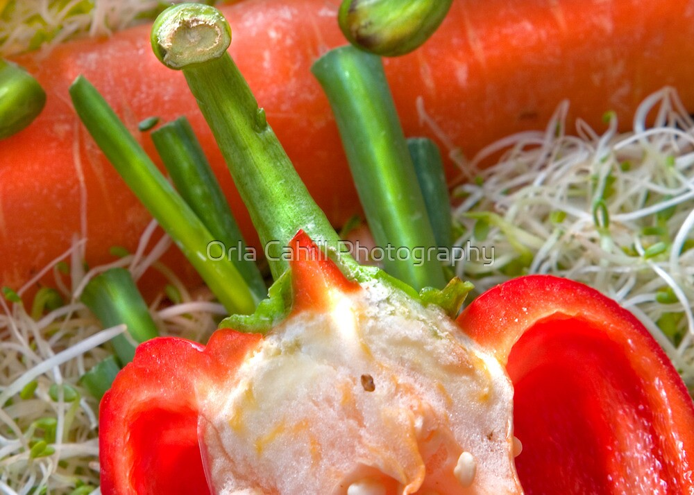 Fun Vegetable Landscape no.5 by Orla Cahill Photography