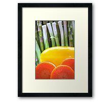 Vegetable Abstract Framed Print