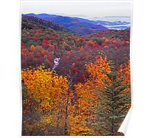 AUTUMN,BLUE RIDGE PARKWAY Poster