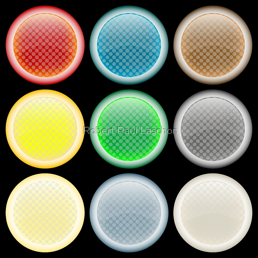 Colored glossy web buttons by Laschon Robert Paul