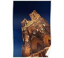 Notre Dame de Reims at Dusk I Poster