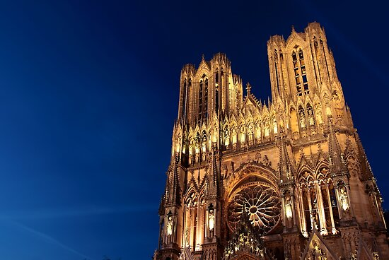 Notre Dame de Reims at Dusk II by remos