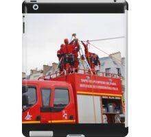 Paris firefighters training iPad Case/Skin