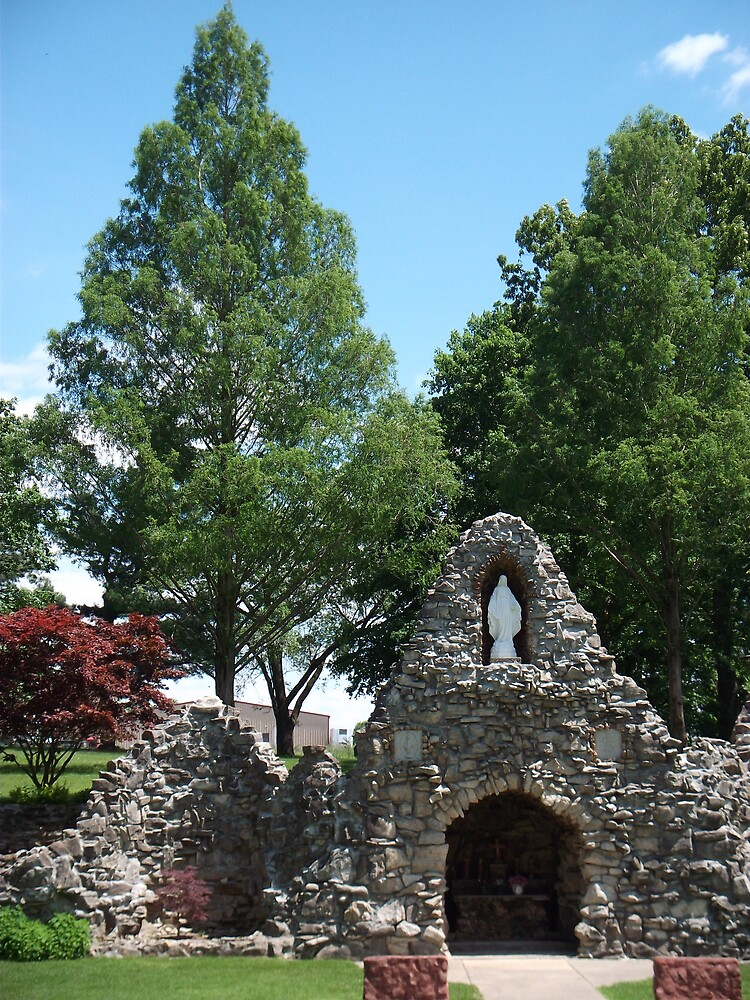 Grotto at Shrine of the Miraculous Medal by Jane Fitzgerald Hylton