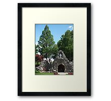 Grotto at Shrine of the Miraculous Medal Framed Print