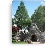 Grotto at Shrine of the Miraculous Medal Metal Print