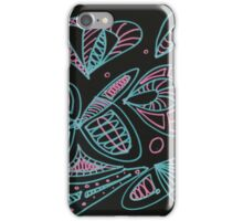 Abstract butterflies, shells and petals iPhone Case/Skin
