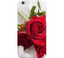 Red Rose on the snow iPhone Case/Skin