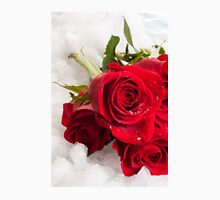 Red Rose on the snow Unisex T-Shirt
