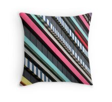 Multicolor façade Throw Pillow