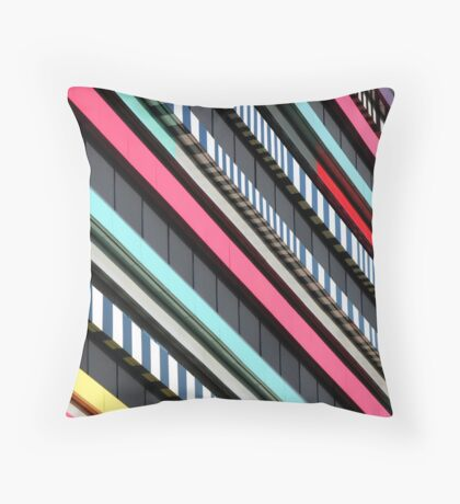 Multicolor façade Throw Pillow