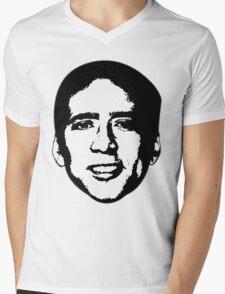 Nicolas Cage Mens V-Neck T-Shirt