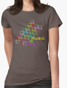 Music Is Life Womens Fitted T-Shirt