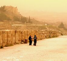 Jerash in a windy day   by Brian Bo Mei