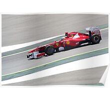 F1 GP España 2011 - Alonso (2) Poster
