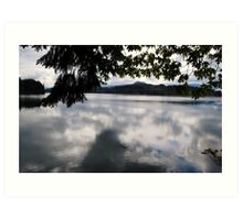 Foster Lake near Sweet Home, Oregon. Art Print