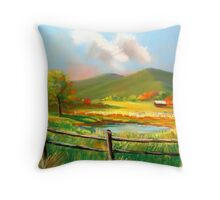 """Poor Valley"" Southwest Virginia Throw Pillow"
