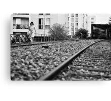 Railway girl Canvas Print