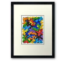 ABSTRACT 1 - BRUSH AND GOUACHE Framed Print