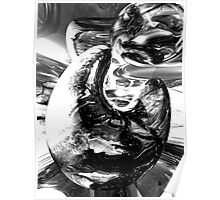 Dipped in Chrome Abstract Poster
