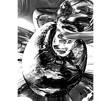 Dipped in Chrome Abstract Photographic Print