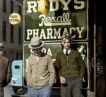 1937 Men on main street, Saturday afternoon, Maryland by Marie-Lou Chatel