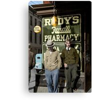 1937 Men on main street, Saturday afternoon, Maryland Canvas Print