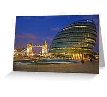 London Old and New Architecture Greeting Card