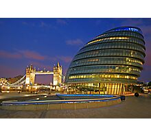 London Old and New Architecture Photographic Print