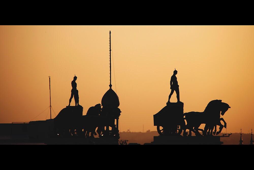_cronicas del navegante solitario [vistas aéreas, batallón en tierras de fuego] by Justo Morales