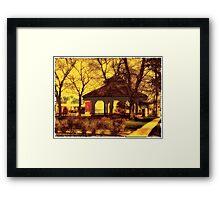 Depot Park Gazebo Framed Print