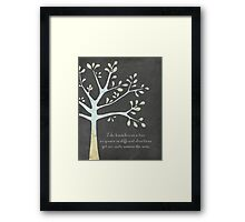 Family tree style quote Framed Print