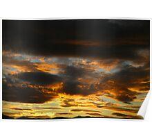 fire sky. eastcoast, tasmania Poster