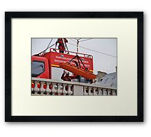 Firefighter exercise, Paris Framed Print