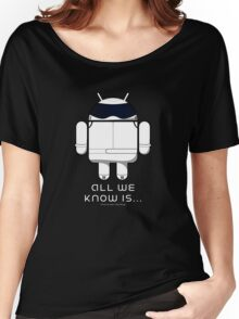 British Racing Droid (text) Women's Relaxed Fit T-Shirt