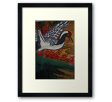 Crane Flys East Framed Print