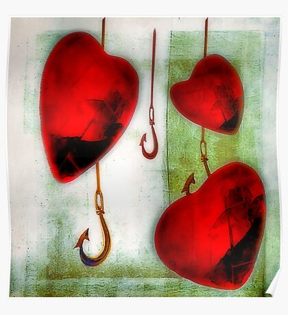 Hearts And Hooks Poster