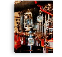 Lantern and Gauges on Fire Truck Canvas Print